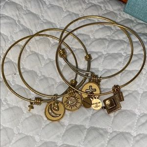 4 Alex & Ani Bangle Bracelets Bundle